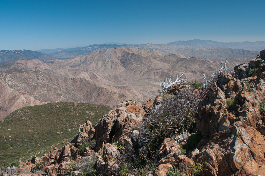 View from the top of Garnet Peak