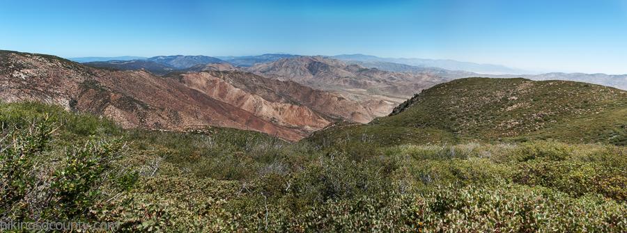 View from Garnet Peak in Laguna Mountain Recreation Area