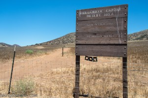 The trailhead at Hollenbeck Canyon