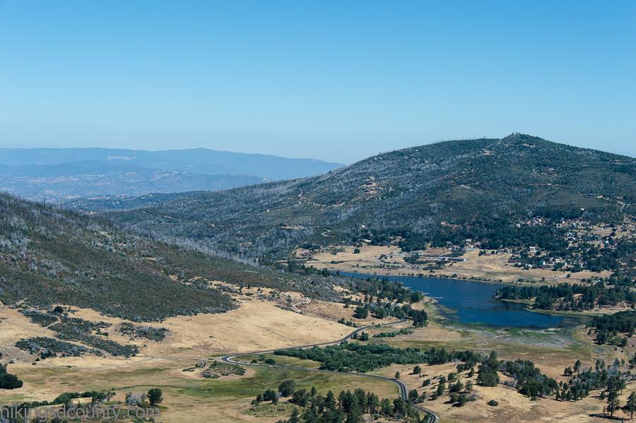 View of Lake Cuyamaca and North Peak from Stonewall Paek