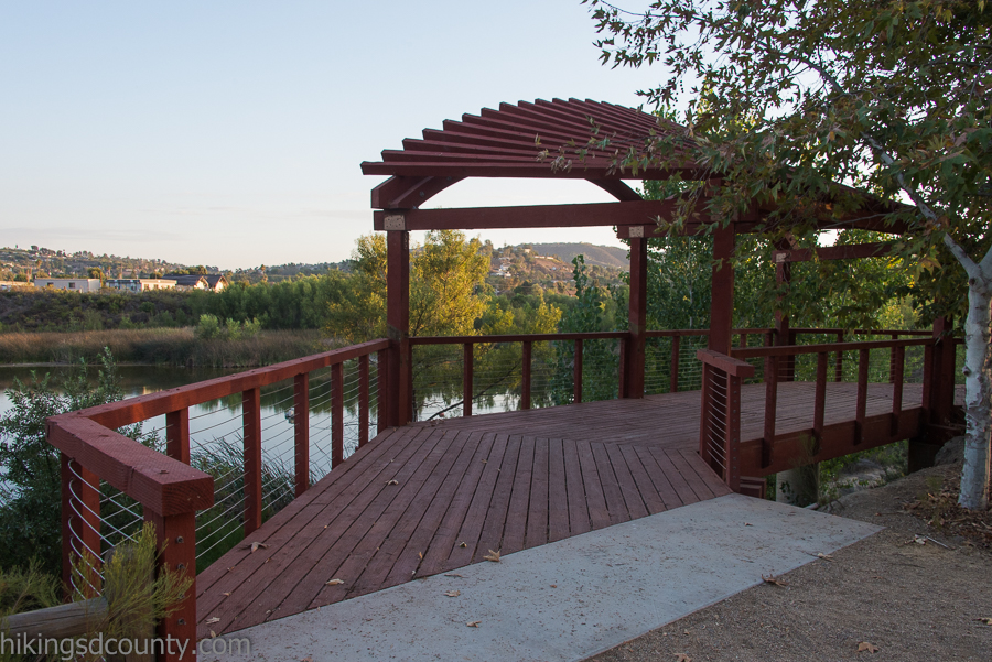 The viewing deck offers nice views at Lakeside River Park