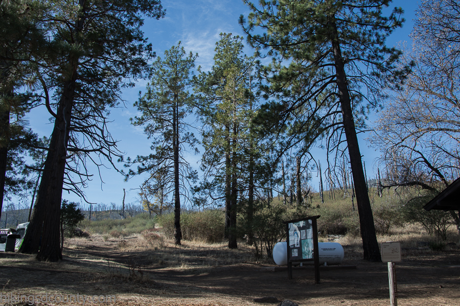 Finding the trail head to Cuyamaca Peak