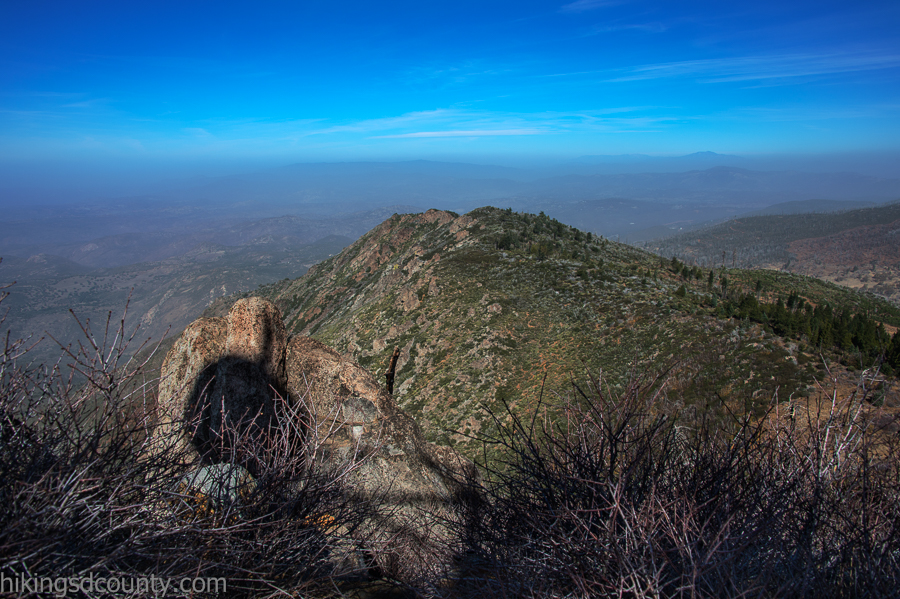 More hazy views from Cuyamaca Peak