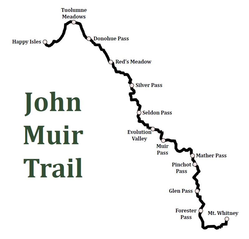Overview of the John Muir Trail  Hiking the JMT