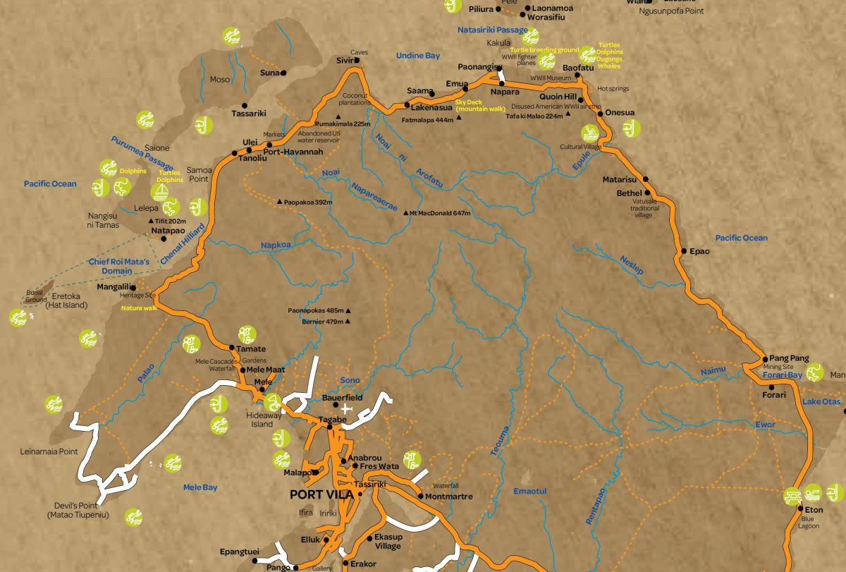 map vanuatu hike 1 Efate Jungle Trek