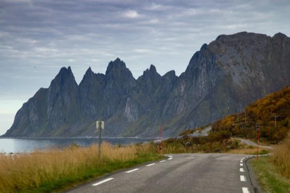 Okshornan peaks seen from Rv 862