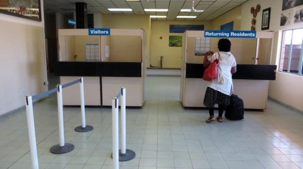 Arriving at Maun airport