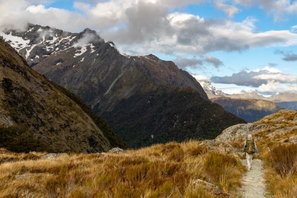 Route Burn Left alpine basin