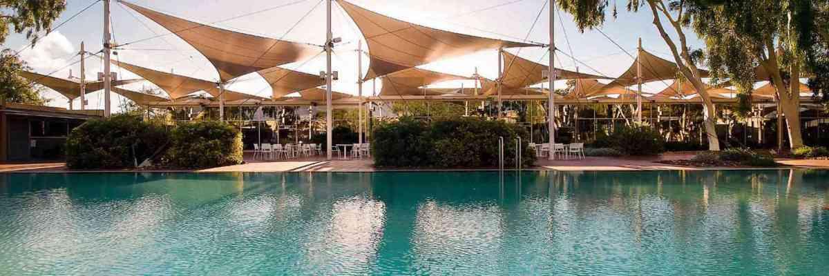 ayers rock uluru hotel sails in the desert pool What to do in Uluru