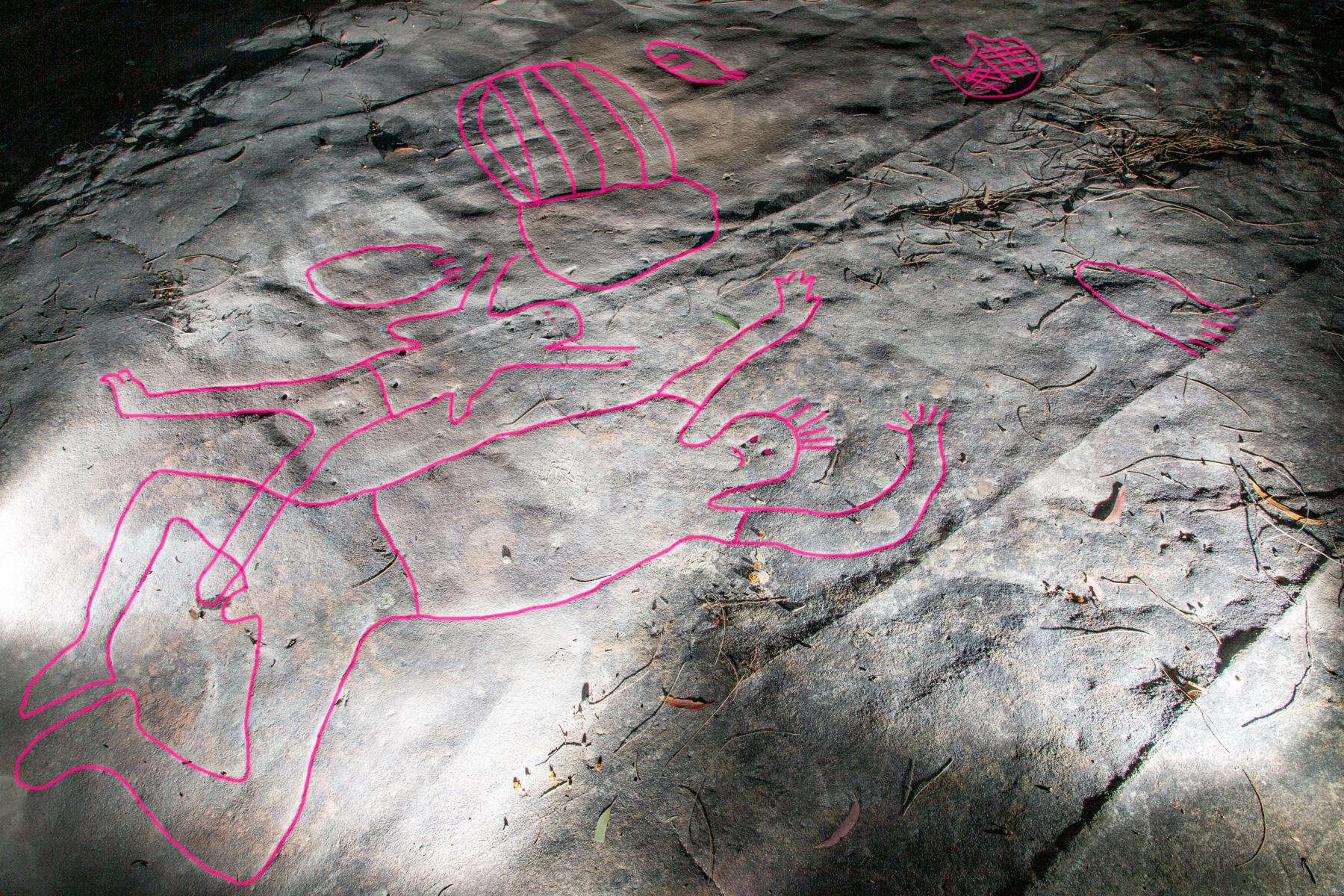 AWAT0051 highlighted LR Photographing Aboriginal rock art