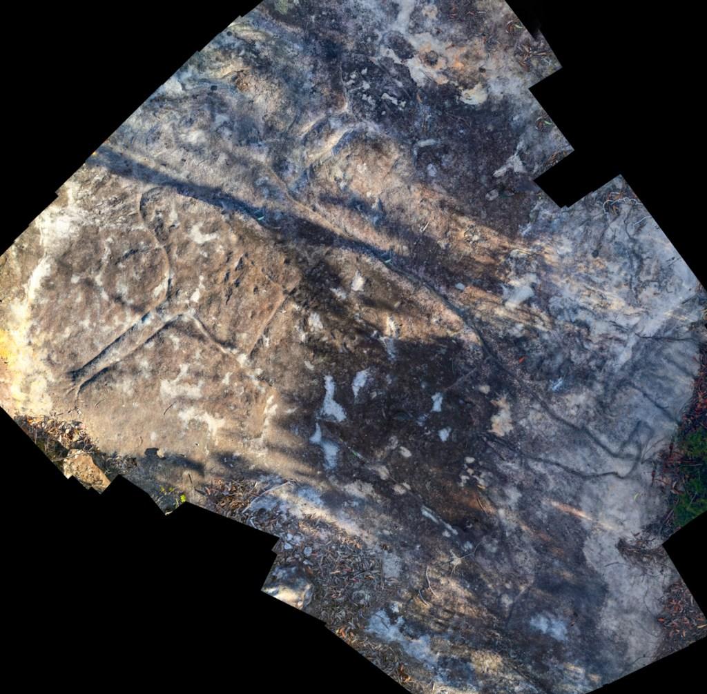 montage3 stitch LR Photographing Aboriginal rock art