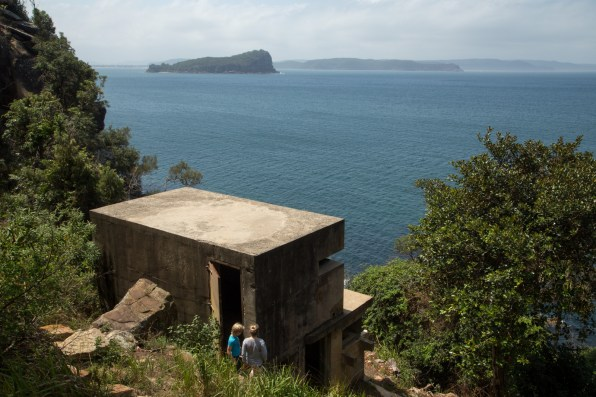 West Head Observation Post, with Lion Island beyond