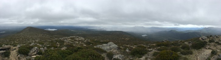 One view from the summit. The better one didn't save to my phone