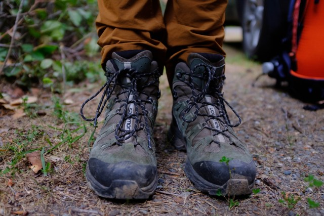My Salamon GTX mid-weight hiking boots