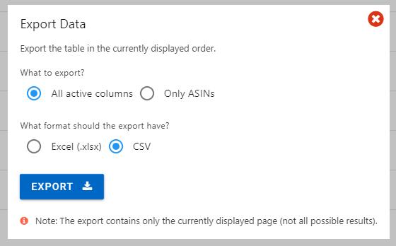 「Export」をクリックして出力