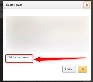 「Add an address」をクリック