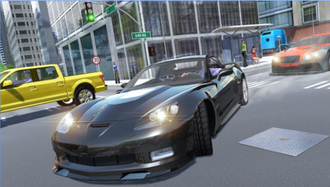 Araba Yarış ve Sürüş Oyunu: Sport Car Corvette