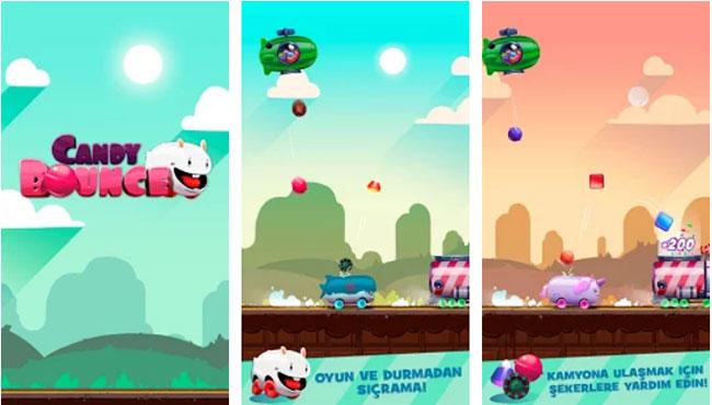 Candy Bounce - Android Şeker Yarış Macera Oyunu indir apk