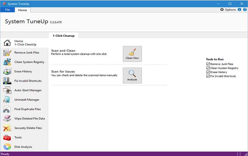 Windows PC Bakım Aracı System TuneUp indir