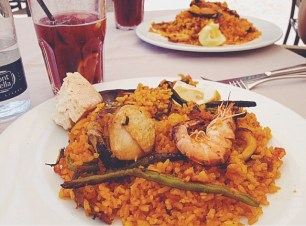 paella and sangria in Madrid
