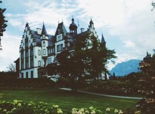 a castle on a vineyard in Switzerland