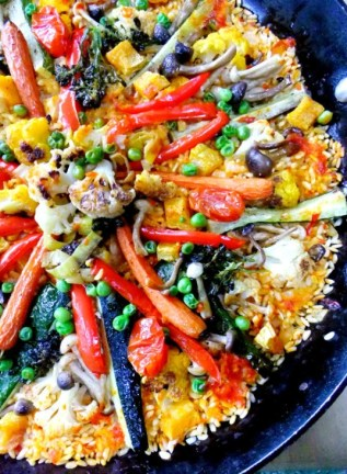 Vegetable Paella, via Proud Italian Cook