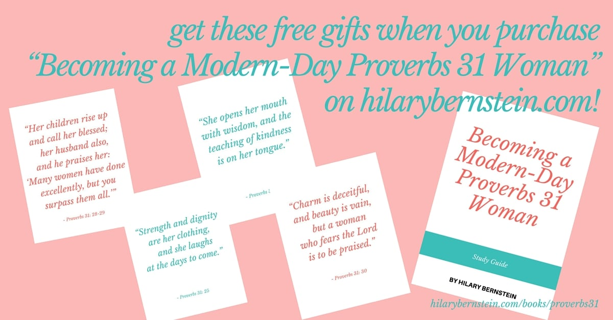 Becoming a Modern-Day Proverbs 31 Woman free gift pack