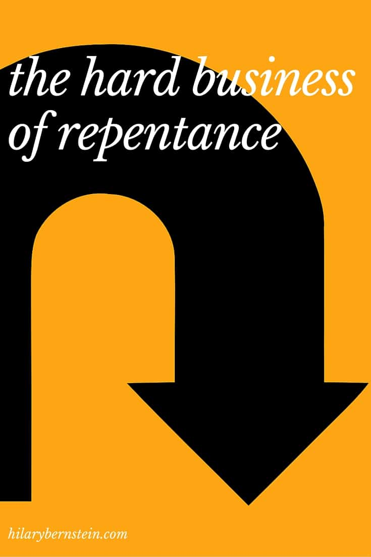 Repentance is hard ... but necessary. Once we know we need to, how can we do