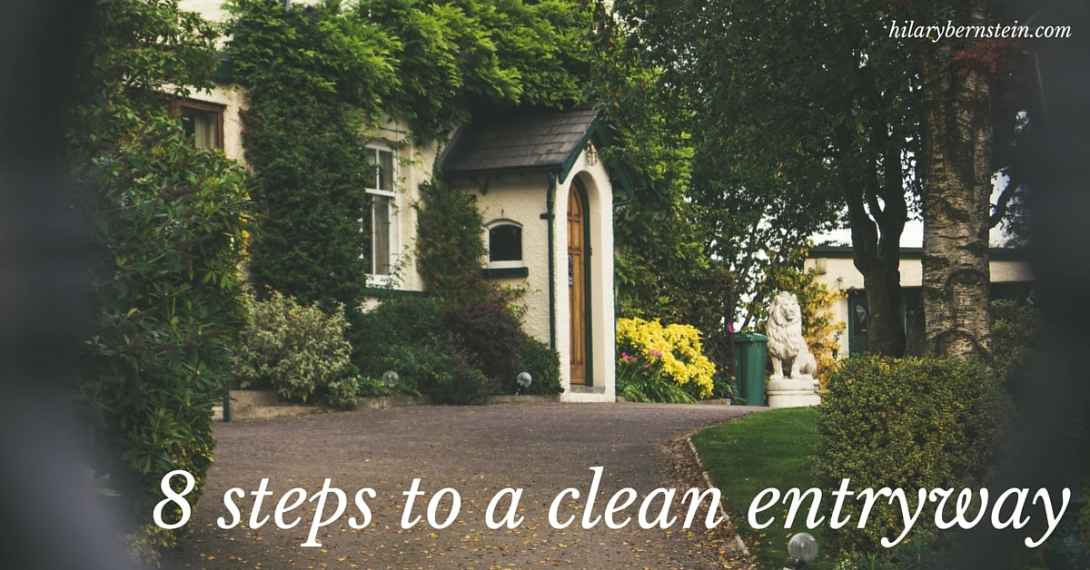 Nothing says welcome like a clean entryway. As you clean your home, don't forget to clean your front door and entryway!