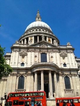 St. Paul's with Iconic Double Decker Busses
