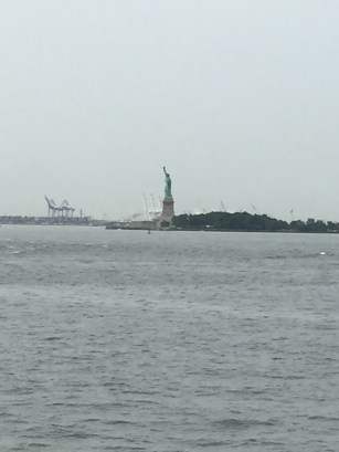 Lady Liberty in the distance