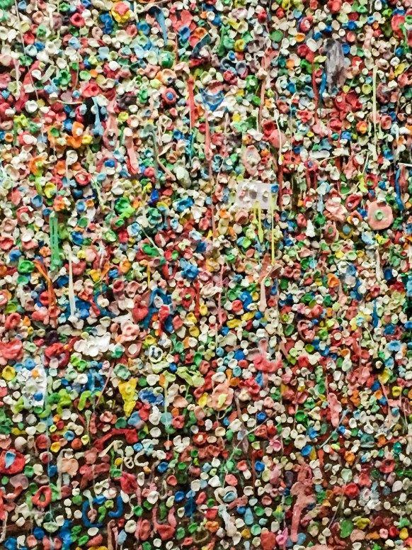 The Gum Wall at Night