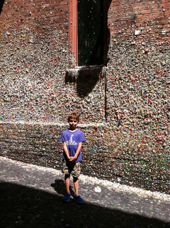 Simon at the Gum Wall 2011