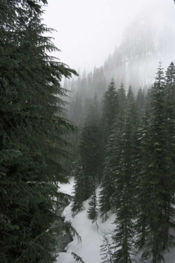 View from the bridge to Alpental