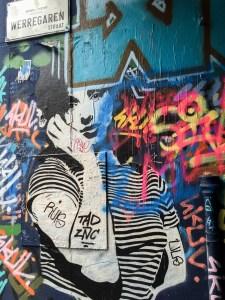 Graffiti Alley Werrengaren Straat Ghen Belgium