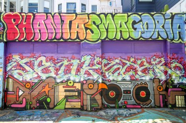Mission District San Francisco Street Art Clarion Alley