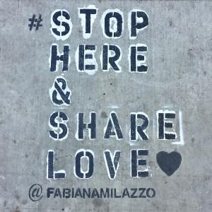 Street art Sidewalk sayings LosAngeles California