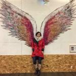 Collette Miller Angel Wings Street Art Los Angeles California