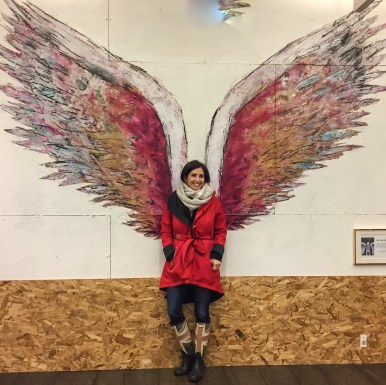 Collette Miller Angel Wings Street Art Los Angeles California
