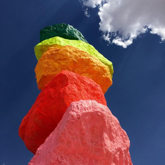 Seven Magic Mountains Las Vegas Nevada #sevenmagicmountains