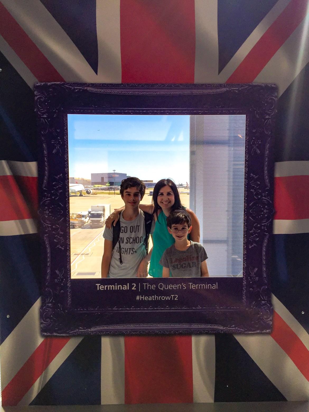 Travel with Kids Heathrow Airport London England