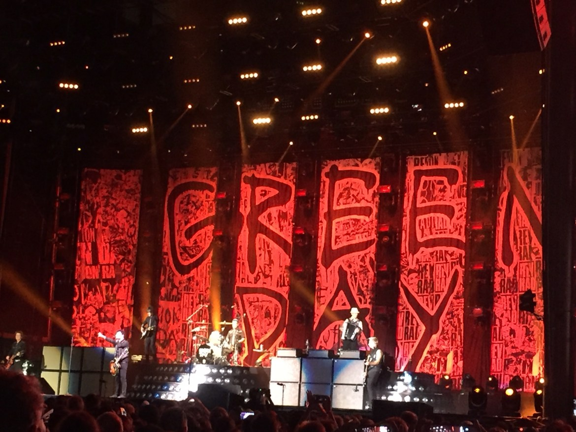 Green Day Rose Bowl Los Angeles California