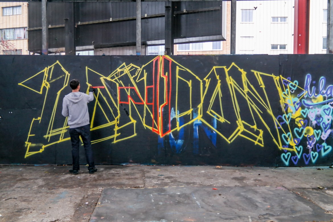 Things to do in London with Kids #graffiticlass
