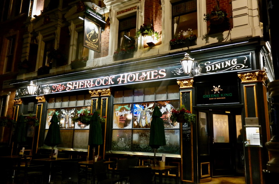 Places to eat in London #SherlockHolmespub