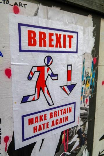 Shoreditch Street Art London #brexitpasteup
