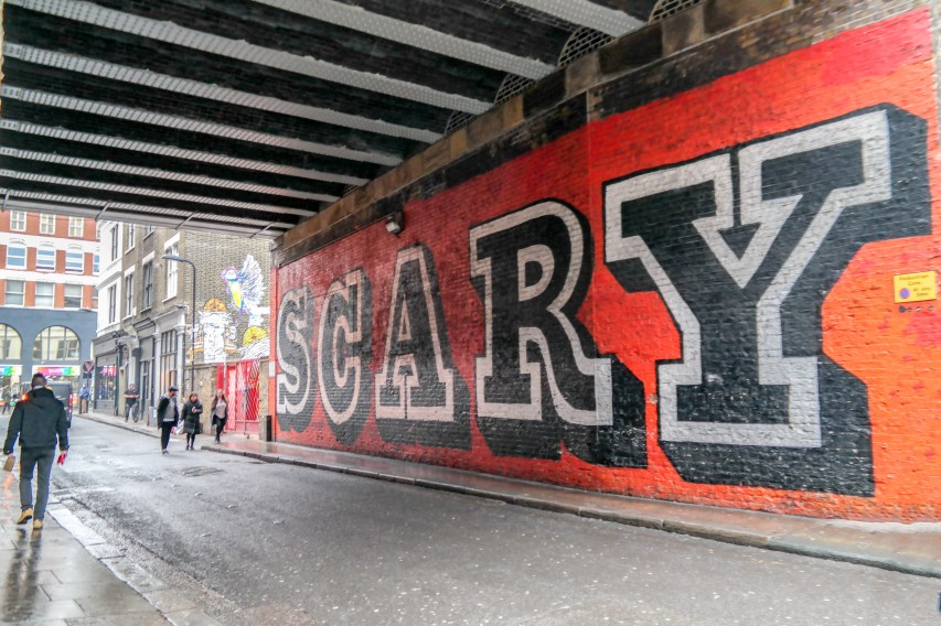 #scary Eine Graffiti Shoreditch London
