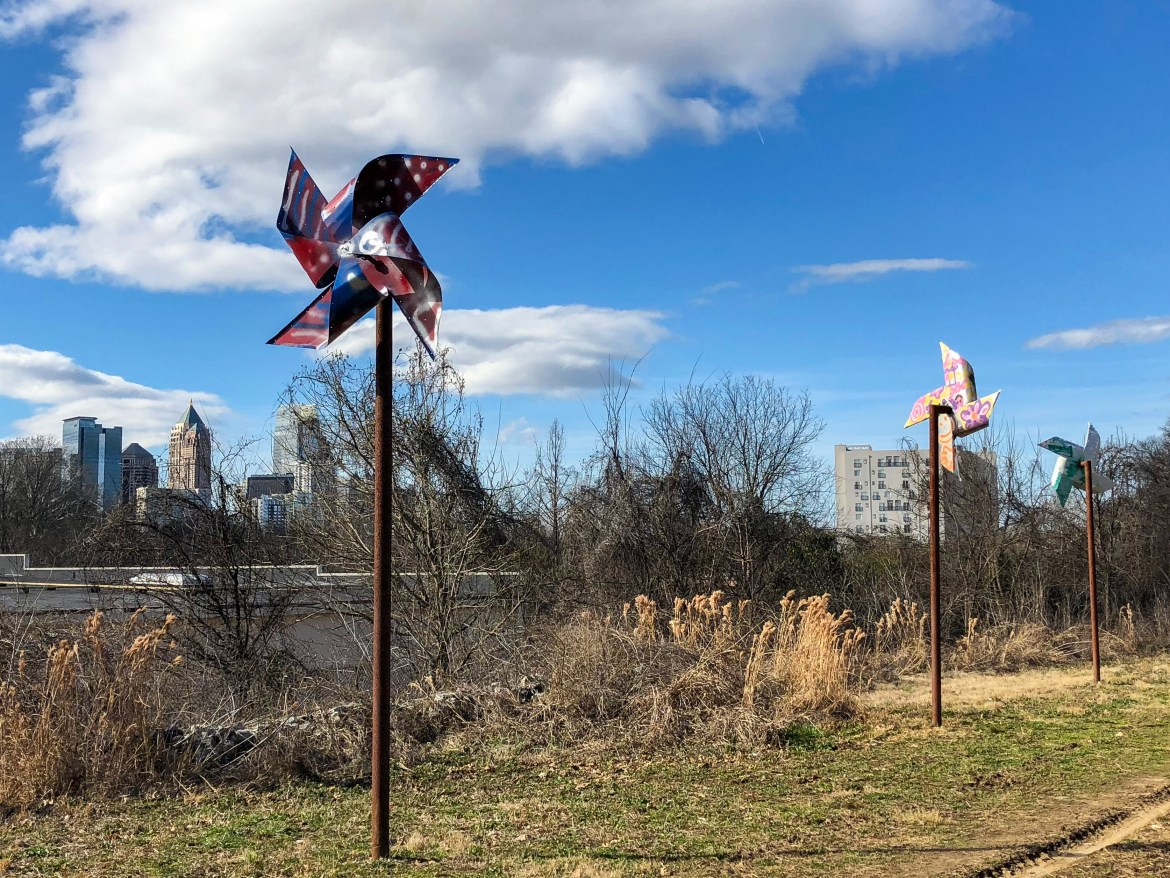 #pinwheels sculpture on the Atlanta BeltLine