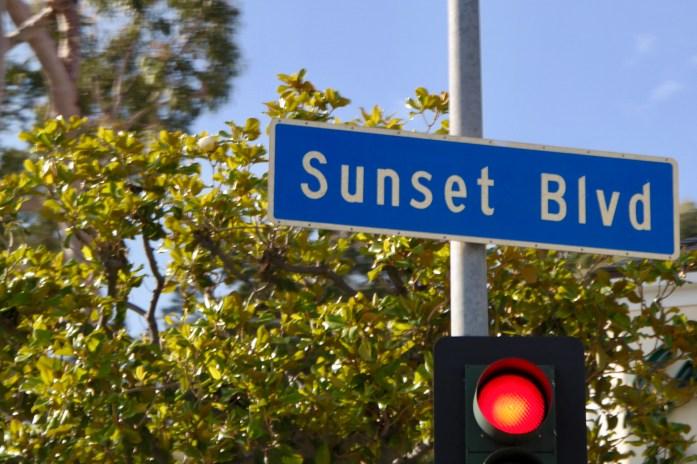 Sunset Blvd Sign Los Angeles California