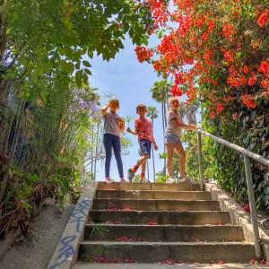 Micheltorena Stairs Silver Lake Los Angeles California #lawithkids #silverlakela #hiddenstairsLA
