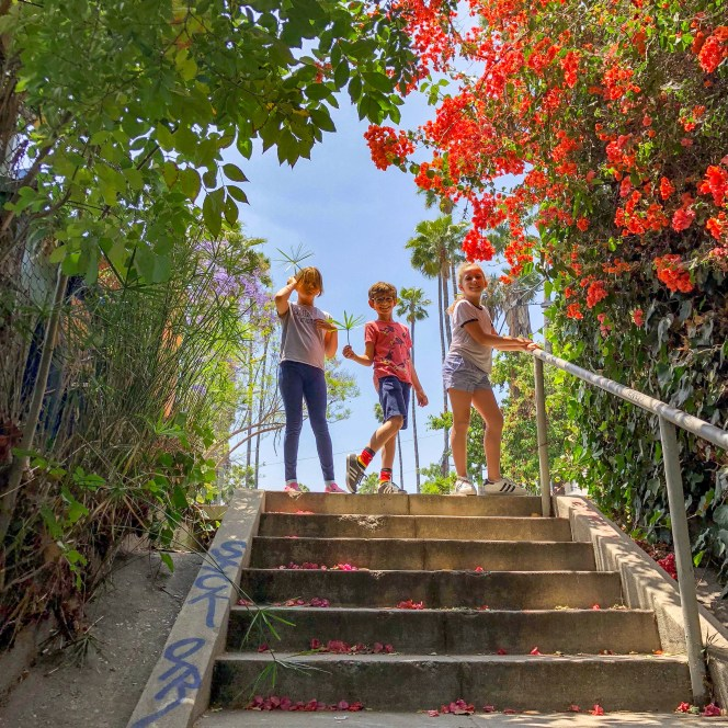 Micheltorena Stairs Silver Lake Los Angeles California #lawithkids #silverlakela #hiddenstairsLA